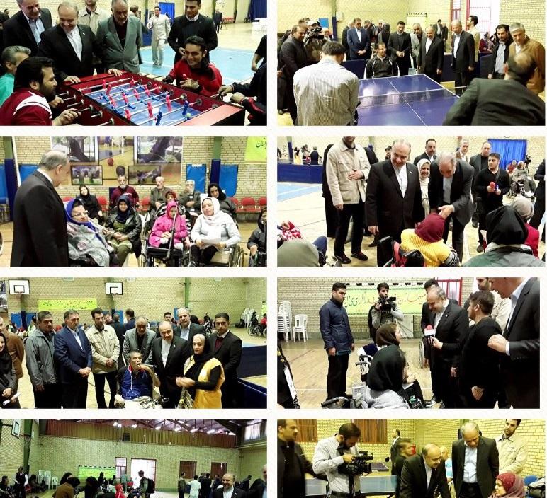 بازديد وزیر ورزش و جوانان از اسایشگاه کهریزک در مراسم تقدیر از مددجویان قهرمان