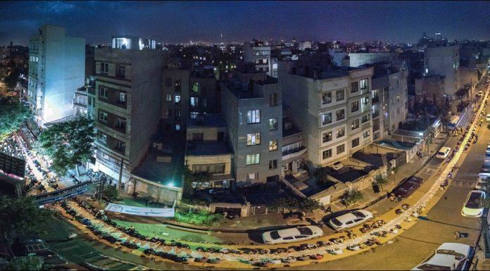 بلندترین سفره افطاری ساده در خیابان قصرالدشت سال 1398