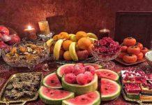 اطعام دهی یکهزار ملایری در شب یلدا