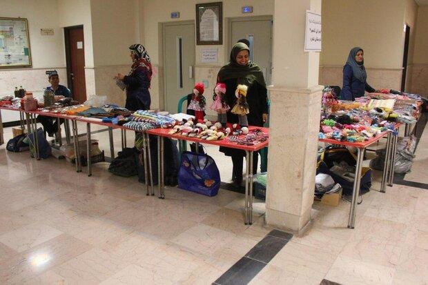 برپایی نمایشگاه خیریه بیماران تالاسمی در دانشگاه ازاد اسلامی شاهرود