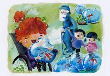 نوروز ۹۸ با کارت تبریک خیریه «کهریزک»/ اثر هنر کودکان اتیسمی