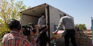 توزیع بسته های گوشت متبرک قربانی با مساعدت برنامه سمت خدا